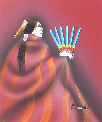 ROBERT REDBIRD SR. original Native American painting - KIOWA - executed in 2008