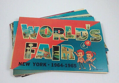 New York World's Fair 1964 Postcard Lot of 20 Official Cards unused unposted