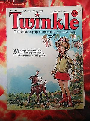 Twinkle  Comic No.661. 20 September 1980. Fn. Puzzles Not Done.