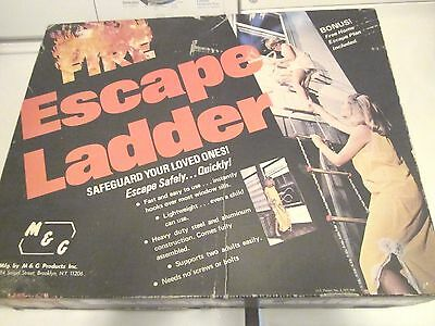 M&G  2 Story 15 Ft Fire Escape Ladder Heavy Duty Aluminum & Steel Holds 2 Adults