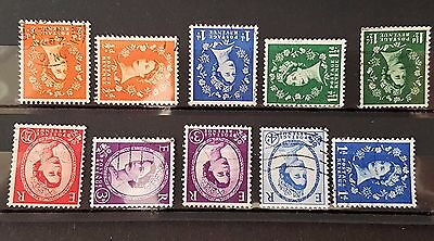 UK Great Britain GB 1950's Watermark Varieties Fine Used Stamp Collection Lot