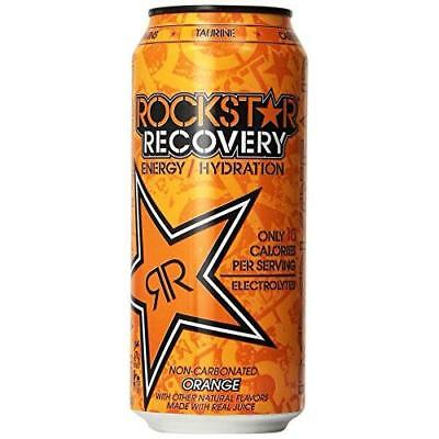 Rockstar Energy Drink, Orange Recovery, 16 Ounce (Pack of 24) New