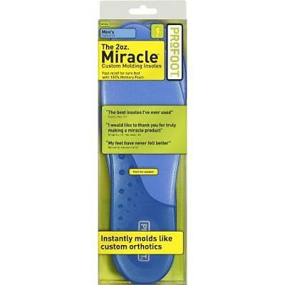 PROFOOT 2oz. Miracle Custom Molding Insoles, Men's 8-13, 1 Pair (Pack of 3) New