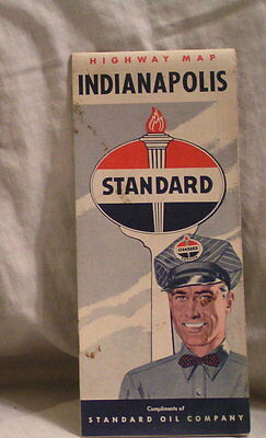 1950-'s Indianapolis Standand Oil Road Map
