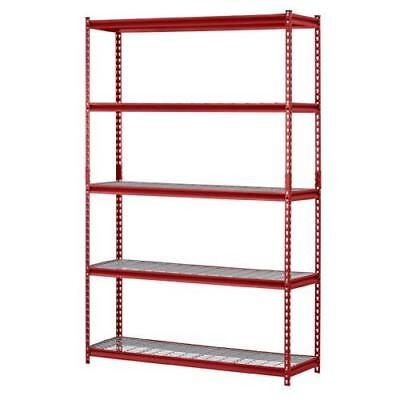 "Muscle Rack UR184872-R 5-Shelf Steel Shelving Unit, 48"" Width x 72"" Height x New"