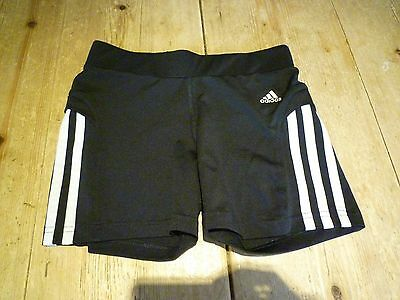 Fabulous ADIDAS Climalite Black & White Stretchy Active Sports Wear SHORTS,11-12