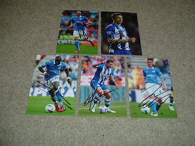 Wigan Athletic - Set Of 5 Signed 6 X 4 Photographs