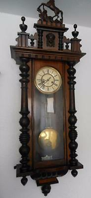 gustav becker walnut cased vienna wall clock c1900s