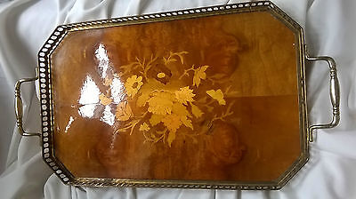 Old Attardi Italy Inlaid Wooden Tray