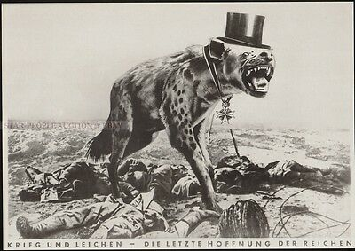 John Heartfield - War And Corpses  * East German Poster Gdr