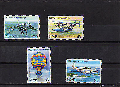 Nevis 1983 2000 Years Of Manned Flight Set 4 Mnh Sg122/5