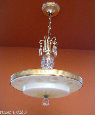 Vintage Lighting 1940s Lightolier chandelier   Extraordinary Amazing Rare