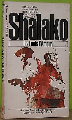 SHALAKO / Louis L'Amour / Movie Tie-In Cover BRIGITTE BARDOT / Connery US 1968