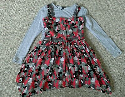 Nononsense Top and lined pinafore dress very good condition age 6 110-116cm
