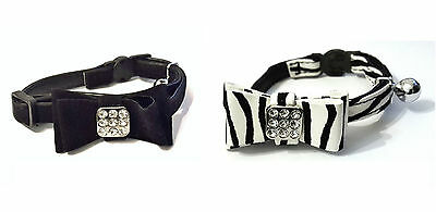 Crystal Design Kitten Cat Collars, Safety With Bell £2.99