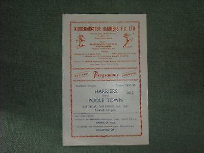 Kidderminster Harriers  V  Poole Town  (Sl)  2-11-57