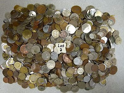 11--LB Of Mixed Mutilated World Foreign Coin Lot#2
