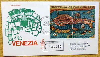 1972 Vatican City Stamp FDC 'Map of Venice' MB-111.