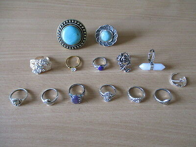 Job Lot Of 14 Assorted Rings