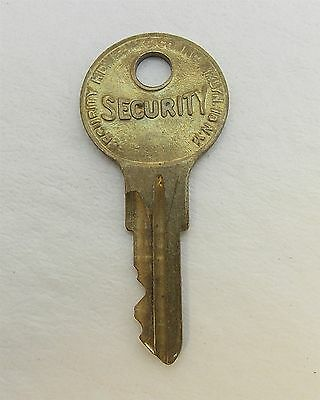 Vintage KEY For Lock, Vending, Padlock, Cabinet. SECURITY Key Number CH856