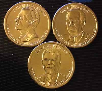 2016 D 3 Coin Uncirculated Presidential Dollar Set