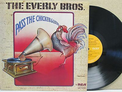 Everly Bros/Brothers- Pass The Chicken And Listen LP (UK 1972 RCA Country) Phil