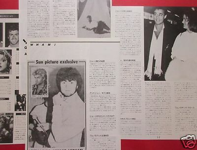 Wham! George Michael Andrew Ridgeley 1986 Clippings Japan Magazine Ir 3A 5Page