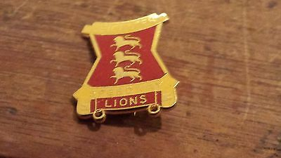 Leicester Lions---1980's--Speedway Badge---Gold Metal