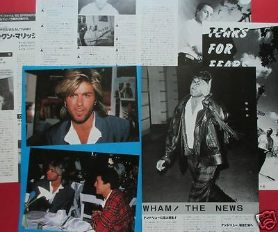 Wham! George Michael Andrew Tears For Fears 1985 Clippings Japan Ir 12A 8Page
