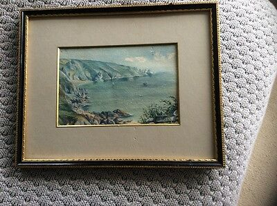 vintage painting Moulin Huet Guernsey