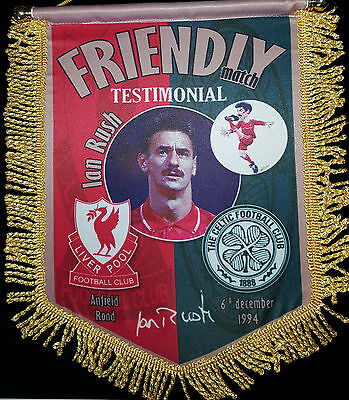 ian rush testimonial liverpool v celtic 14inx12in colour pennant