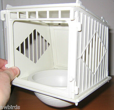 Canary Plastic Nest Pan / Box Compartment With Cover