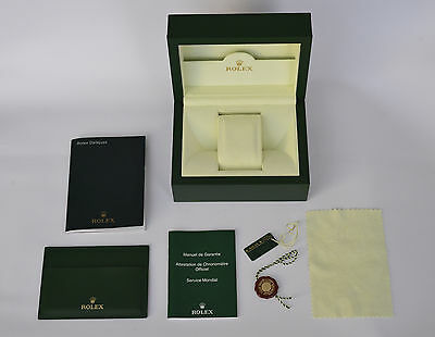 Genuine 2008 ROLEX Oyster Green Presentation Box case & papers 30.00.71 datejust