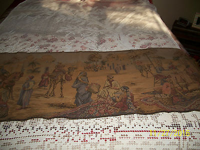 Antique Tapestry Runner 20 by 57 Nice Made in Belgium