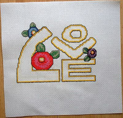 Love - Completed Counted Cross Stitch