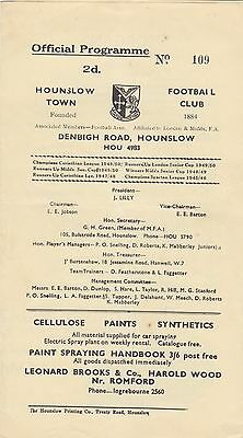 Hounslow Town v Cardiff Corinthians, Friendly, Monday 26th March 1951.