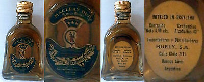 Old Scotch Whisky Macleay Duff  Minibottle - Argentinean Import