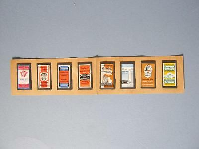 Set of 8 Small Vintage Needle Books - All Are Insurance Companies