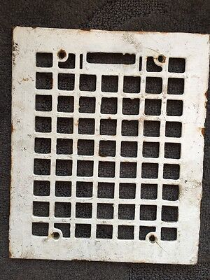 Antique Cast Iron Heat Register Grating 9.75x 11.75""