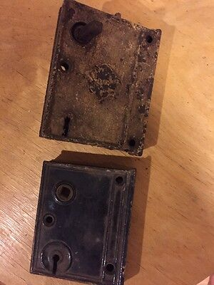 Antique Lock Boxes Lot Of 2 Needs Repair Not Working