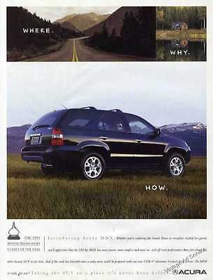 2001 Acura MDX Photo Nice Introductory Car Ad