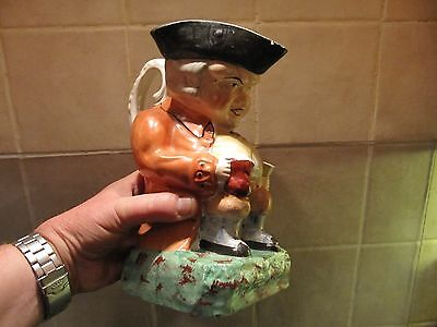 Antique ? Pottery Larger Toby Jug - Naturally Aged