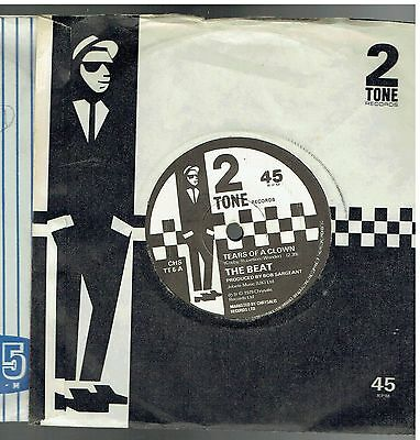 The Beat Tears Of A Clown/ranking Full Stop 45 1979 2 Tone Paper Label