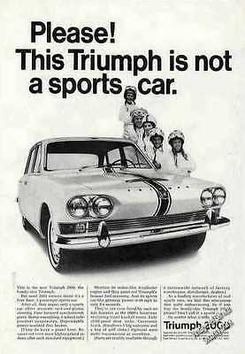1966 This Triumph is not a sports car Vintage 2000 Ad