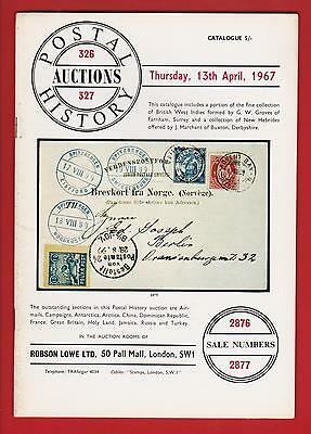 Auction Catalogue – 1967 Robson Lowe Postal History