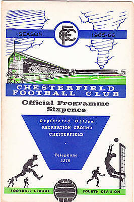 Chesterfield v Hartlepools United 1965-1966