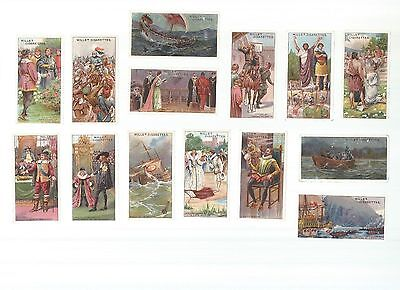 Historic Events - A part set of cards ( 21/50 ) issued by Wills in 1912