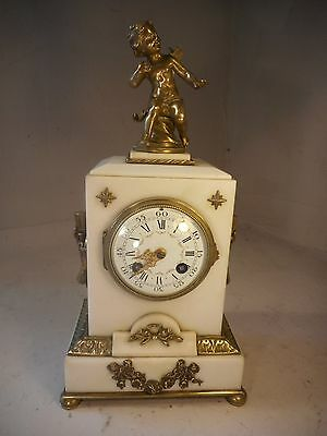 Antique French Bronze Mounted Striking Mantel Clock   ref1966