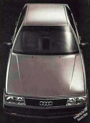 """Audi 5000S """"Car of The Year"""" Ad   1983"""