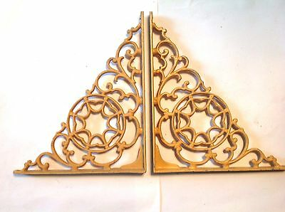 Vintage Cast Aluminum Shelf Brackets Yellow Garden Restoration Hardware